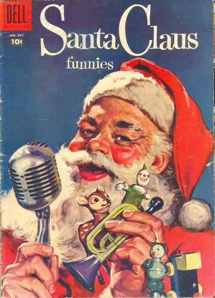 Four Color 867 - Dell - Santa Claus - Funnies - Microphone - Toy