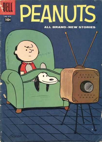 Four Color 878 - Peanuts - 10 Cent Dell Comics - Schultz - Charlie Brown - Snoopy