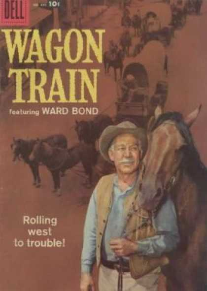 Four Color 895 - Dell - Wagon Train - Man - Horse - Hat
