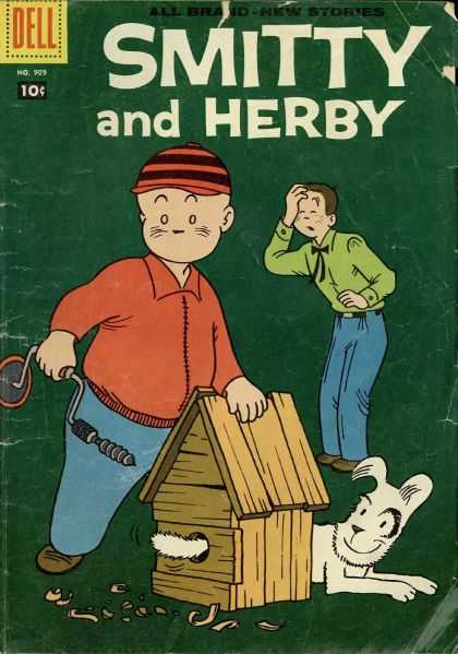 Four Color 909 - Dell - Smitty And Herby - 10 Cents - Doghouse - Dog