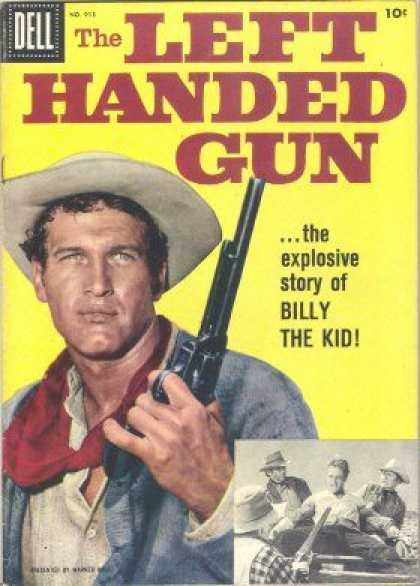 Four Color 913 - Left Handed Gun - Dell - Comic - Billy The Kid - Newman