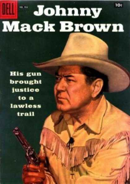 Four Color 922 - Dell Comics - Johnny Mack Brown - Gun - Tassled Jacket - Justice To A Lawless Trail
