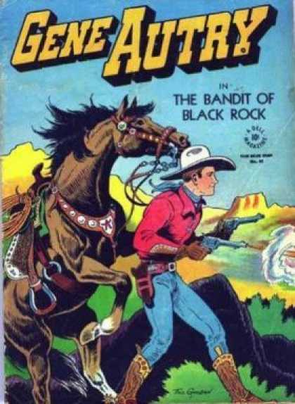 Four Color 93 - Bandit - Black Rock - Horse - Firing Guns - Walking