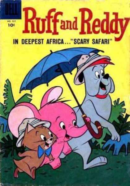 Four Color 937 - Ruff And Reddy - Umbrella - Cap - Tree - Scary Safari