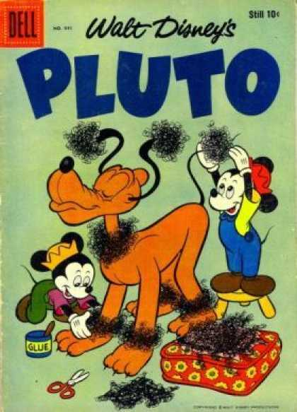 Four Color 941 - Glue - Dell - Walt Disneys - Pluto - Scissors