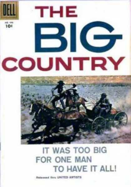 Four Color 946 - Dell - The Big Country - Horse - United Artists - Man