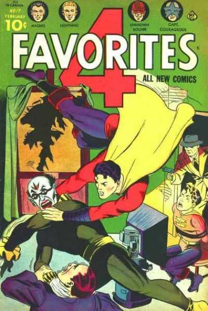 Four Favorites 17 - Captain Courageous - Magno - Superman - Detective - Superboy