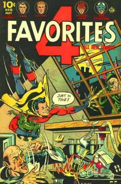 Four Favorites 18 - Window - Man - Superhero - Fire - Moon