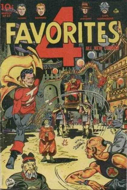 Four Favorites 22 - Superhero Comic - March Issue - 4 Superheroes - All New Comics - Oriental Scene