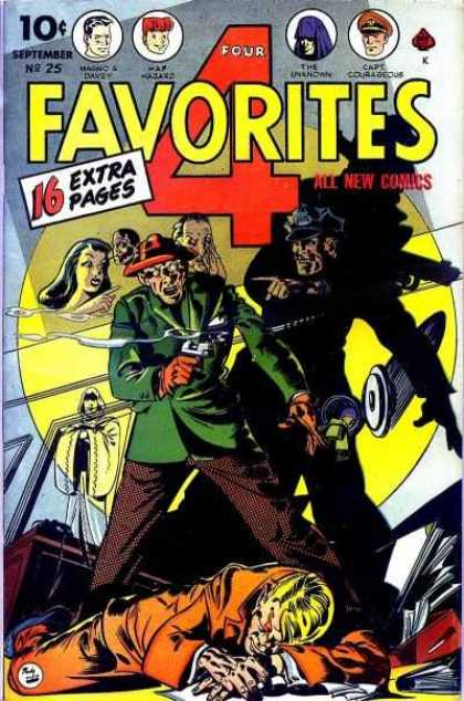 Four Favorites 25 - Fabulous Four - 10 Cent Comics - Extra Page Comics - 4 Heroes - 4 Person Comics