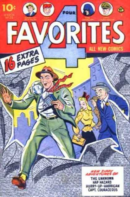Four Favorites 28 - New Happy Adventures - 16 Extra Pages - Favorites - Camera - Cop