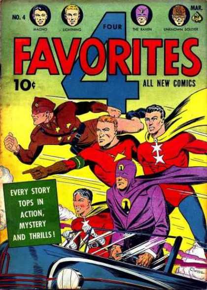 Four Favorites 4 - Superhero - Costumes - Lightning - The Raven - All New