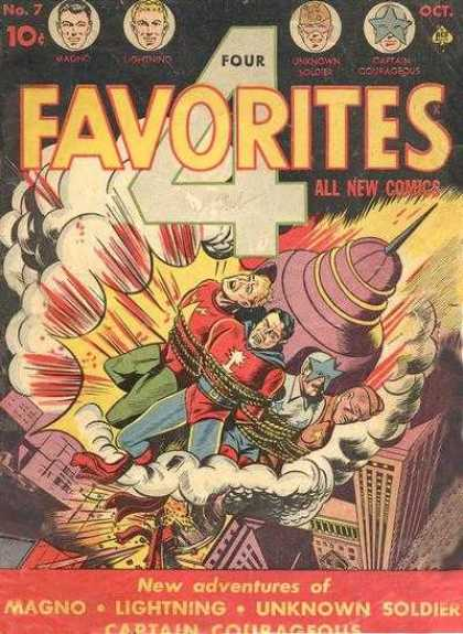 Four Favorites 7 - All New Comics - Rocket - Lightning - Magic - Unknown Soldier