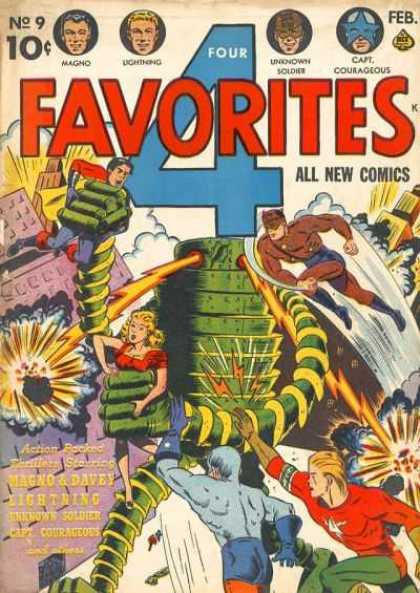 Four Favorites 9 - Robots - Heros - City - Fight - Evil