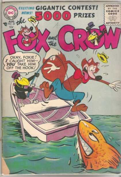 Fox and the Crow 34 - Fishing - Top Hats - Shark - Fishing Boat - Red Bow Tie
