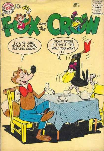Fox and the Crow 43 - Axe - Duck - Waiter - Foxie - China Cups