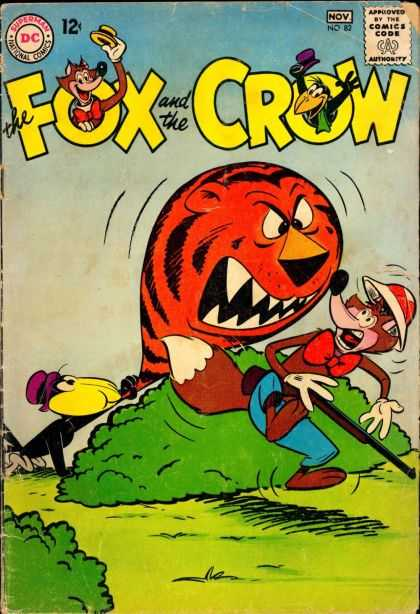 Fox and the Crow 82 - Dc Comics - Safari Hat - Tiger - Ballon - Bush