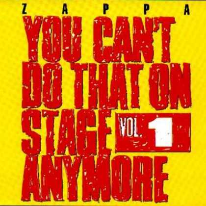 Frank Zappa - Frank Zappa You Can't Do That On Stage - Vol. 01