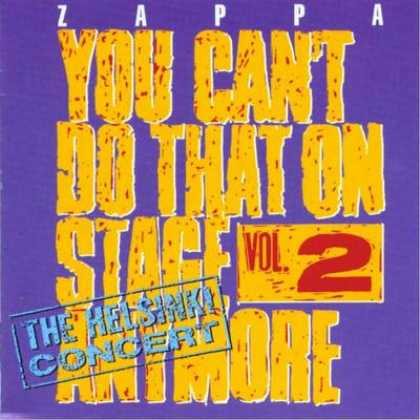 Frank Zappa - Frank Zappa You Can't Do That On Stage - Vol. 02