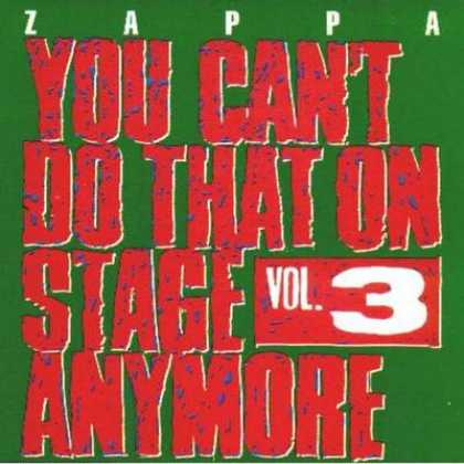 Frank Zappa - Frank Zappa You Can't Do That On Stage - Vol. 03