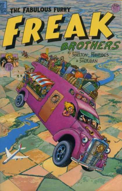Freak Brothers 11 - Shelton - Mavrides - Sheridan - Airplane - Purple Truck