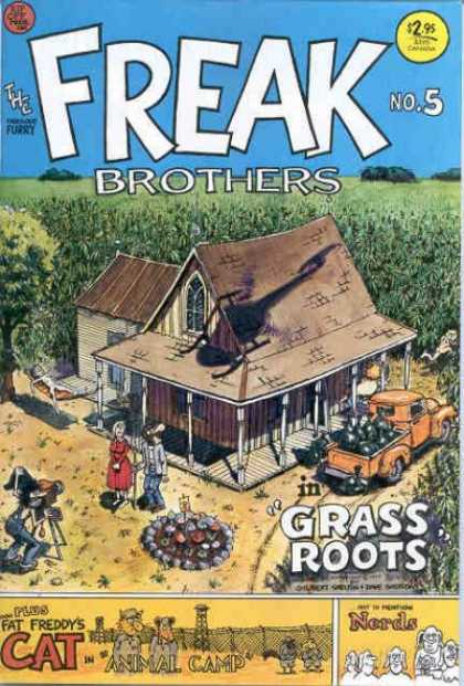 Freak Brothers 5 - Freaks - Corn Field - Farm House - Grass Roots - Brothers