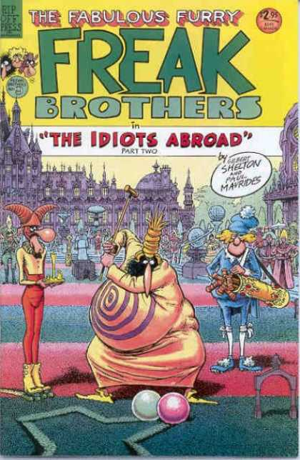 Freak Brothers 9 - The Idiots Abroad Part 2 - Paul Maurides - Croquet - Bulls Eye - Blue Hat
