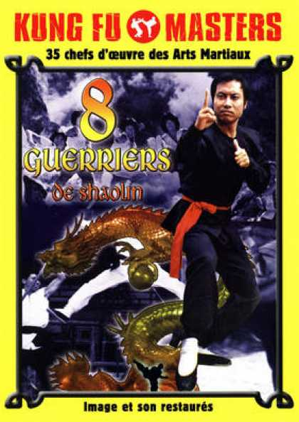 French DVDs - 8 Guerriers De Shaolin