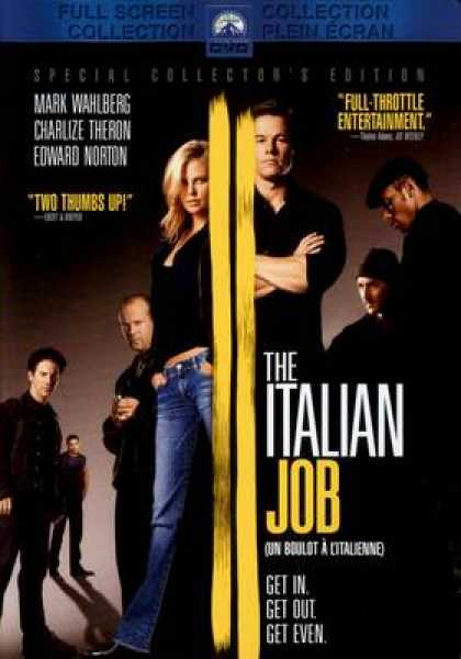 French DVDs - The Italian Job Full Screen French Canadian