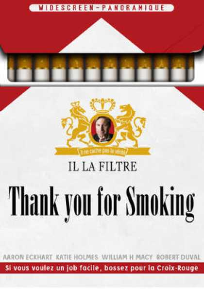 French DVDs - Thank You For Smoking