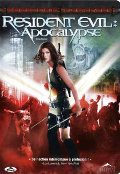 French DVDs - Resident Evil Apocalypse