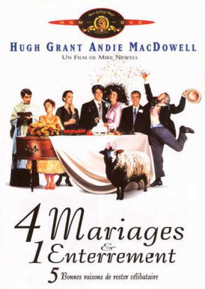 French DVDs - Four Weddings And A Funeral