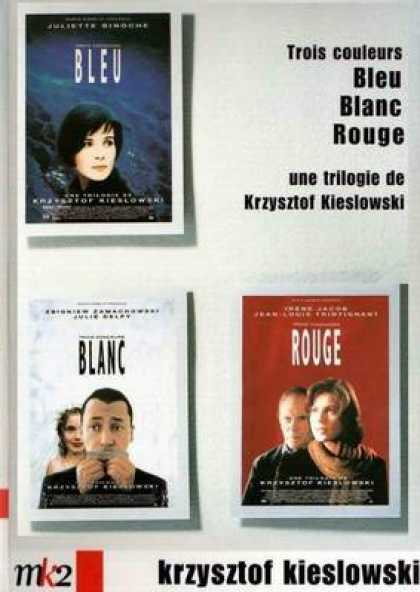 French DVDs - 3 Colors Blue White Red
