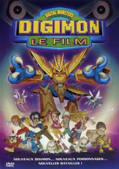 French DVDs - Digimon Le Film