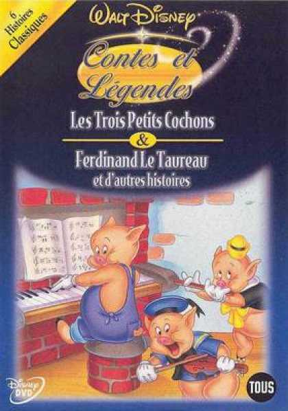 French DVDs - Disneys Heros And Legends Vol 5