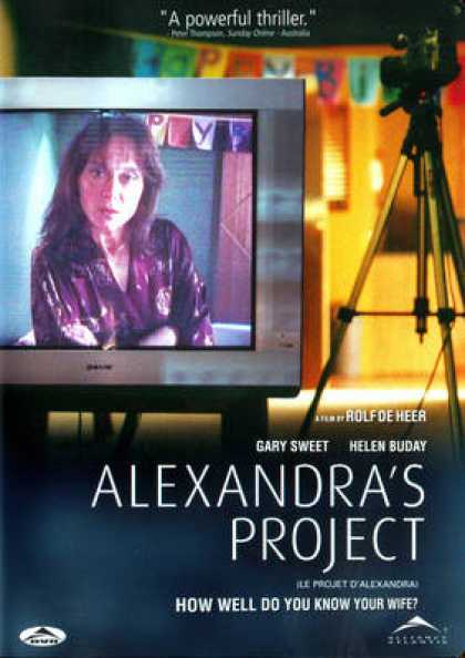 alexandras project The movie of the month club for indie and foreign films watch foreign films online via streaming and buy indie film and foreign film dvds film movement distributes award-winning independent and foreign film.