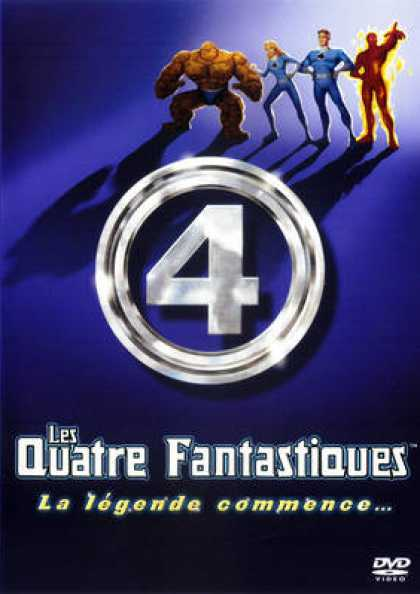 French DVDs - Fantastic 4 - Dessin Animee