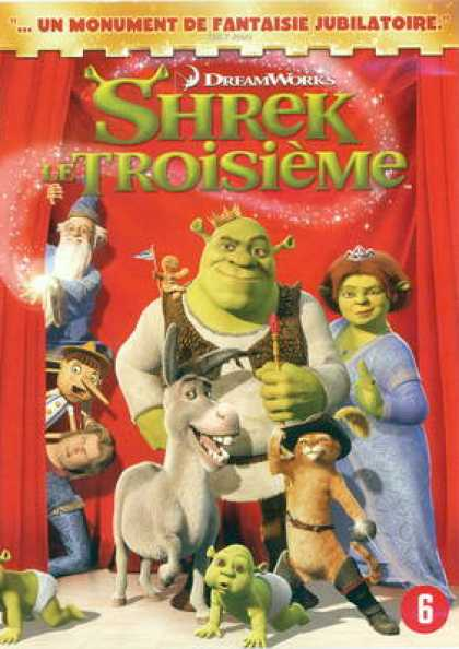 French DVDs - Shrek Le Troisieme