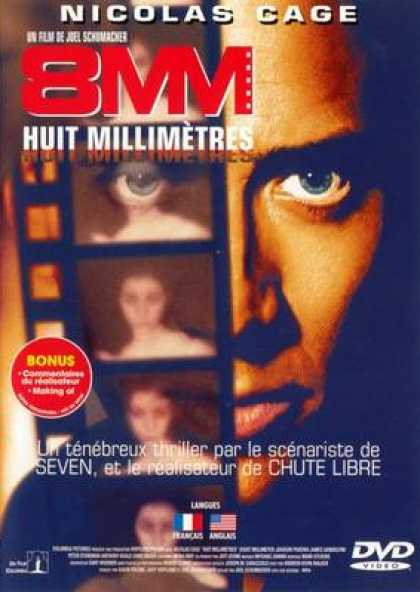 French DVDs - 8mm - Huit Millimetres