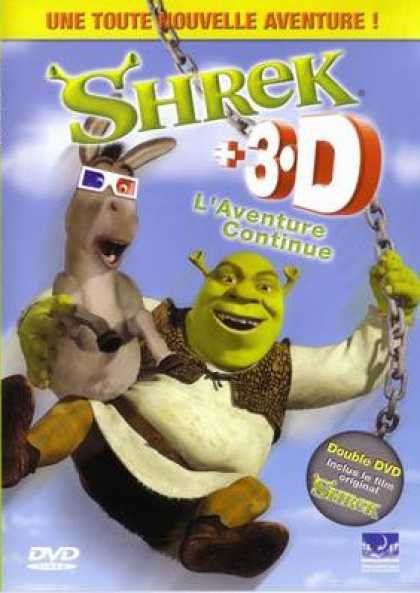 French DVDs - Shrek/Shrek 3-D