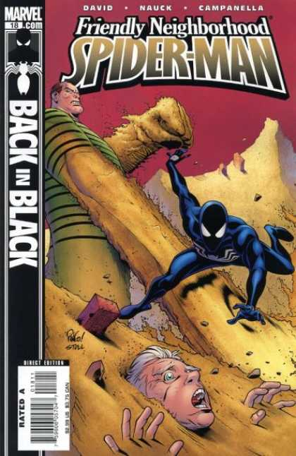 Friendly Neighborhood Spider-Man 18 - Spider-man - Sandman - Black Suit - Battle - Person In Danger - Mike Wieringo