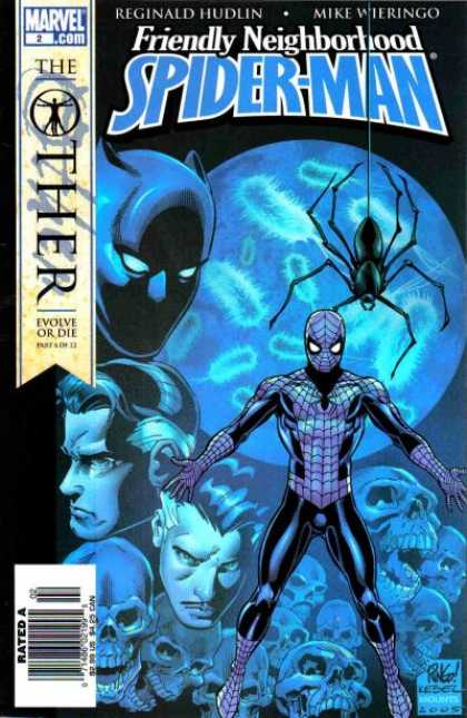 Friendly Neighborhood Spider-Man 2 - Friendly Neighborhood Spider-man - The Other - Evolve Or Die - Spider - Skulls - Mike Wieringo