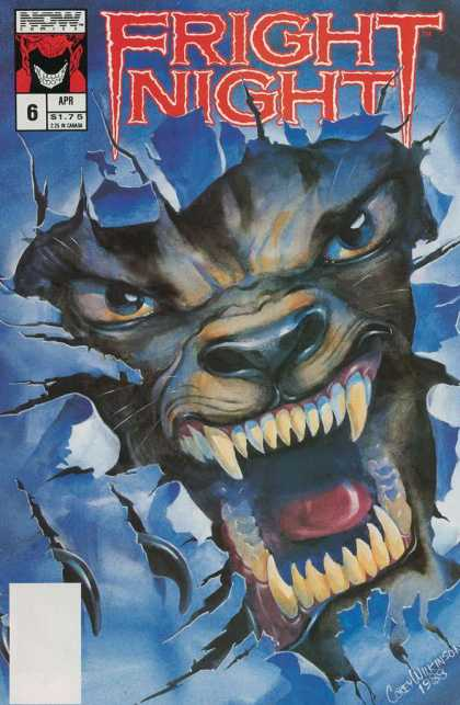 Fright Night 6 - Now - Werewolf - Fangs - Wall - Ripped