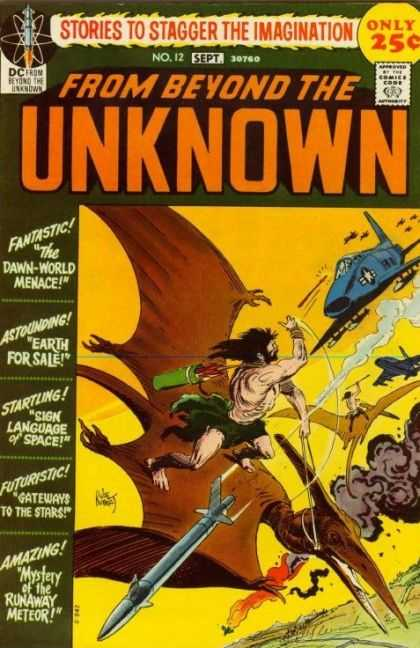 From Beyond the Unknown 12 - Dinosaur - Airships - Cave Men - Stories To Stagger The Imagination - Missiles - Joe Kubert