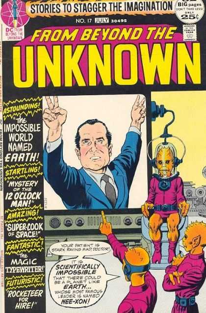 From Beyond the Unknown 17 - Nixon - Alien - Aliens - President - Screen - Murphy Anderson