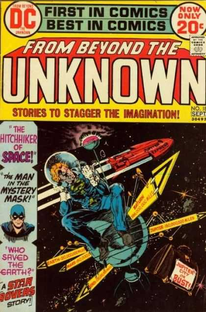 From Beyond the Unknown 18 - The Hitchhiker Of Space - The Man In The Mystery Mask - Who Saved The Earth - Space Craft - Jupiter City Or Bust - Michael Kaluta