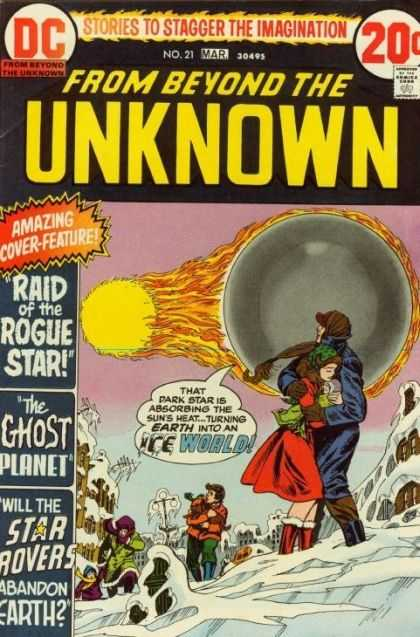 From Beyond the Unknown 21 - Dc Comics - Dark Star - Ice - Disaster - Abandon Earth - Nick Cardy