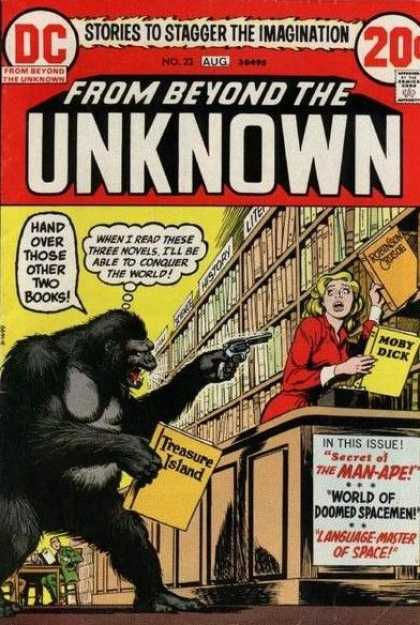 From Beyond the Unknown 23 - Gorilla - Library - Pistol - Stick Up - Secret Of The Man-ape - Nick Cardy