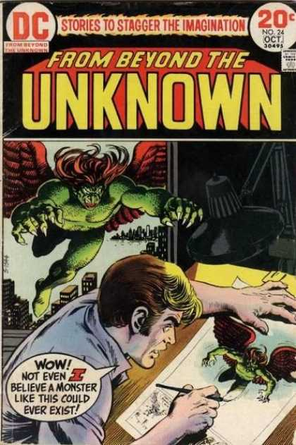 From Beyond the Unknown 24 - Painting - Door - Devil - Fingers - Hair - Nick Cardy