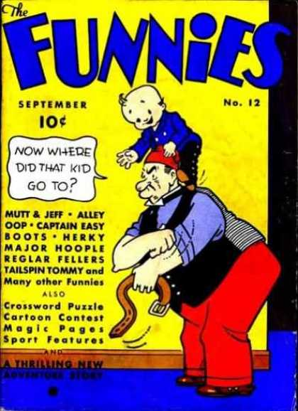 Funnies 12 - 10 Cents - September - Speech Bubble - Baby - Alley Oop